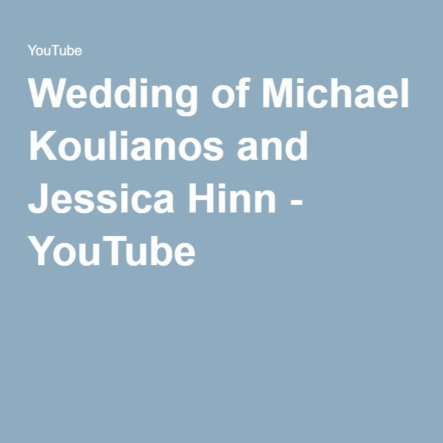 Wedding Of Michael Koulianos And Jessica Hinn