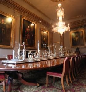 State Dining Room At Apsley House