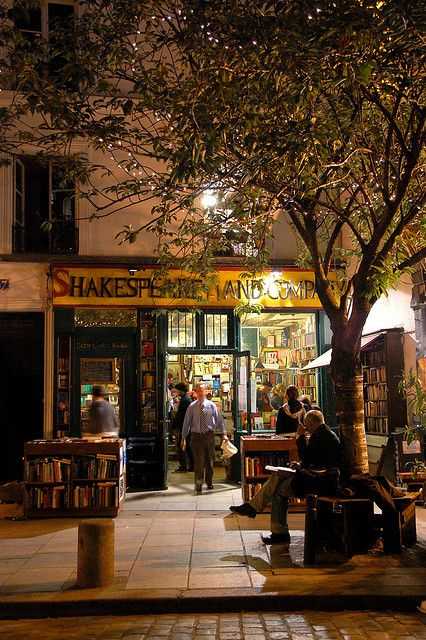 """George Whitman's """"Shakespeare and Company"""" bookstore has been in its present location (opposite Notre Dame) since 1951"""