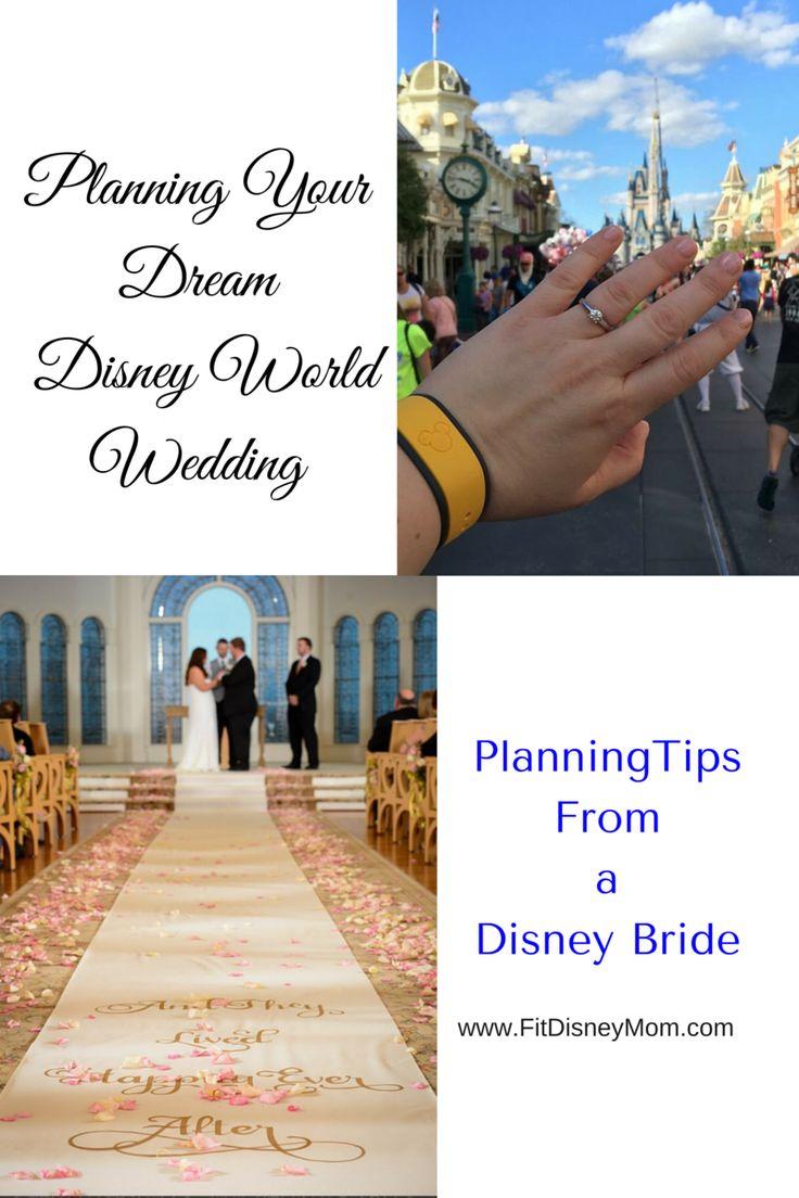 The BEST tips for planning your dream Disney World wedding!  FitDisneyMom.com