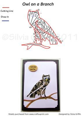 Owl on a Branch on Craftsuprint - Add To Basket!