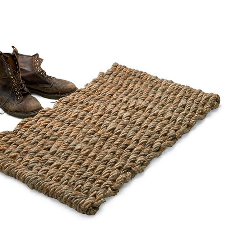 Natural Jute Door Mat - Extra Large by Garrett Wade