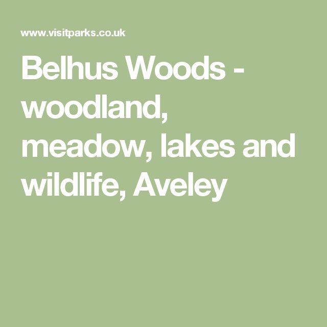 Belhus Woods - woodland, meadow, lakes and wildlife, Aveley