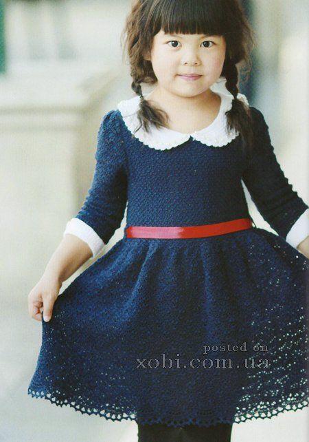нарядное платье для девочки крючком