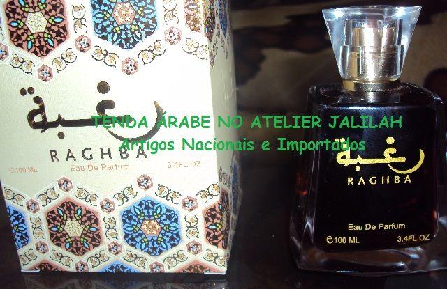Perfume Árabe Raghba, madeira árabe