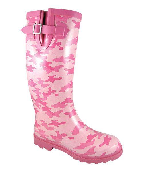 Smoky mountain boots pink pastel camo rain boot