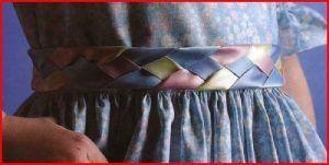 Пояс, сплетенный из лент (Шитьеи крой)