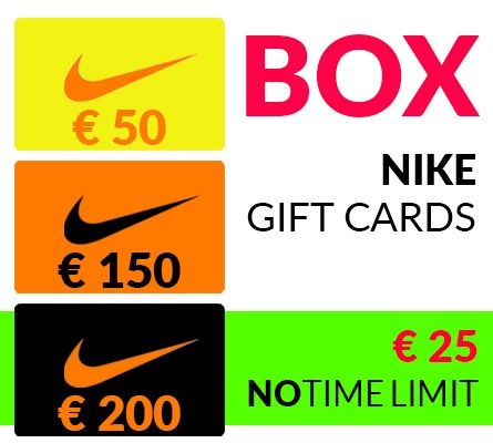 Nike gift cards total value € 400 FOR JUST € 25!!