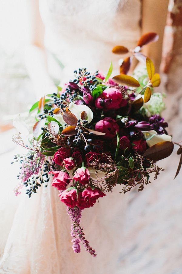 berry toned bouquets - photo by Love by Serena http://ruffledblog.com/oatlands-plantation-wedding-inspiration #weddingbouquet #bouquets
