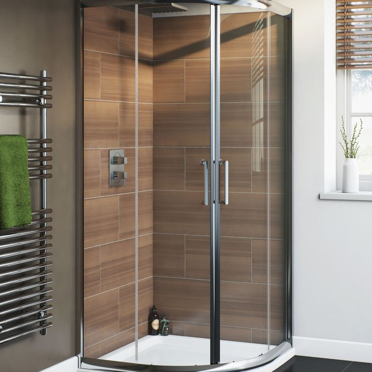 Cooke & Lewis Nadina Quadrant Shower Enclosure, Tray & Waste (W)900mm (D)900mm | Rooms | DIY at B&Q
