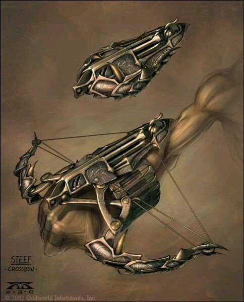Cool hand crossbow design