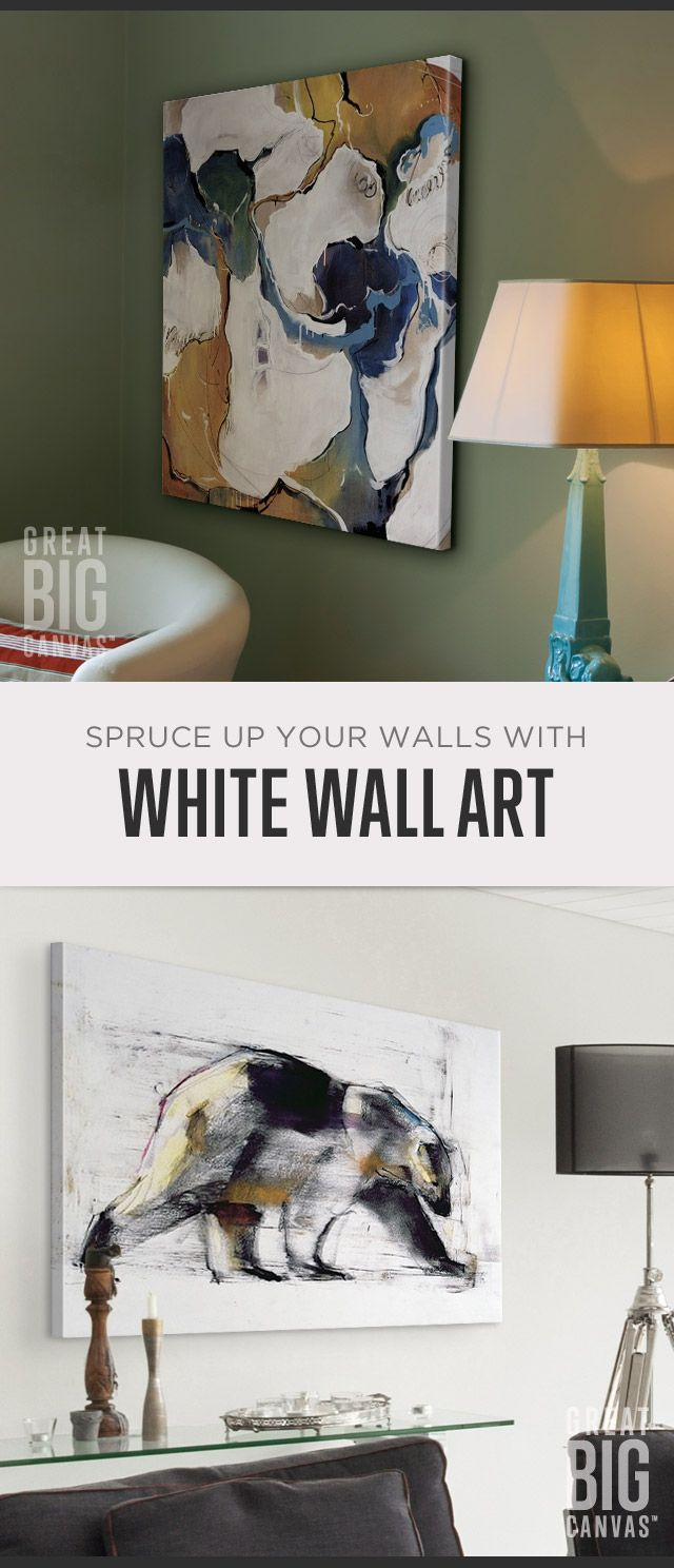 Definitely not a background-fader, White is never bland. It's strong, eye-catching.makes an impact. White is sometimes simple and pure, but often contrasting (and quite complicated). Explore our collection of best selling white wall art at GreatBIGCanvas.com.