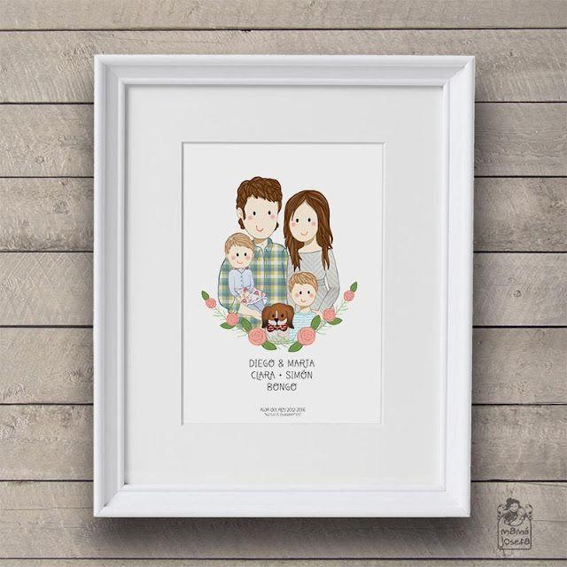 Custom Family Illustration. Ilustración de familia: un recuerdo para siempre