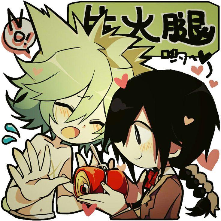 How cute!!! That's Nega-Mogeko and Yonaka!! <3 <3 <3