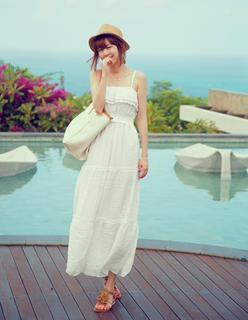 Witte maxi dress