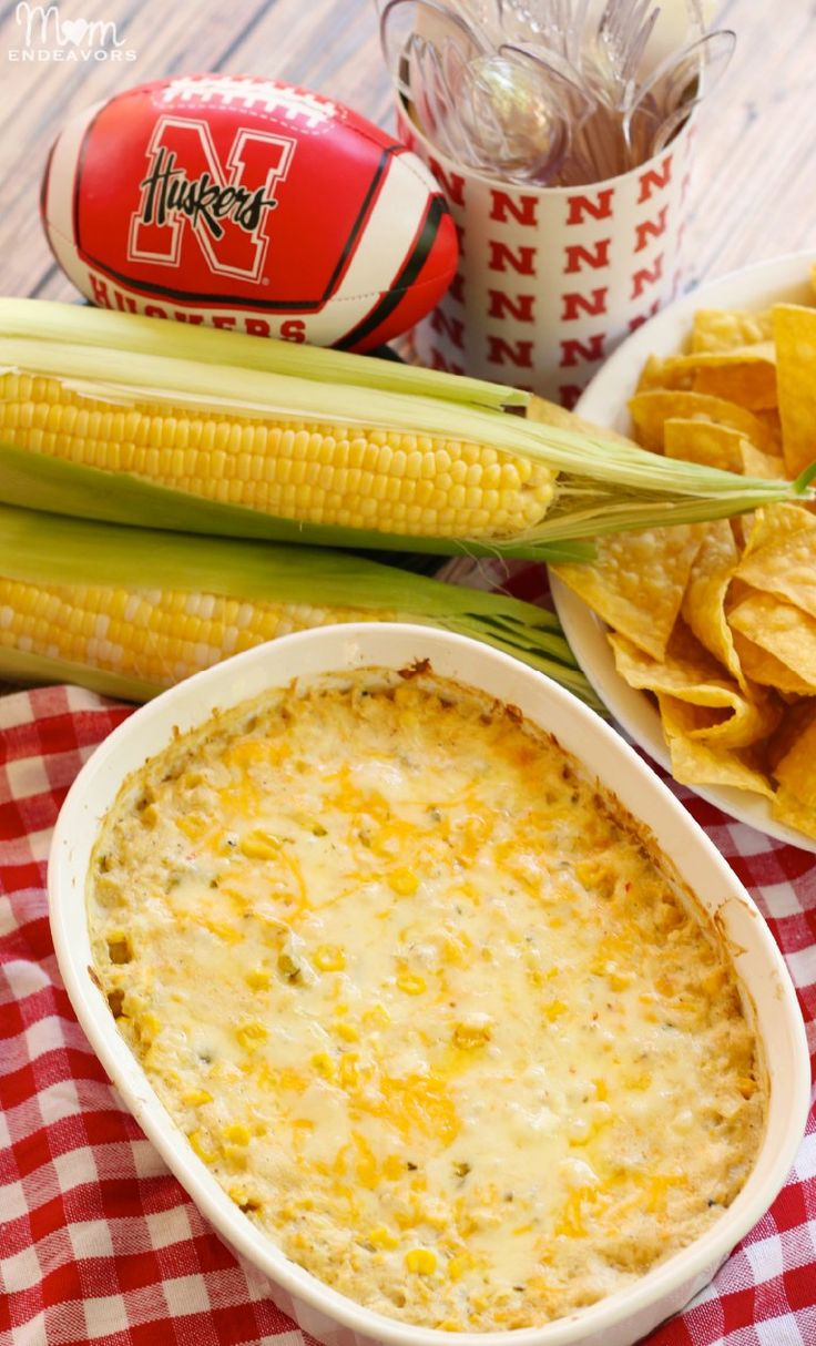 Cheesy Hot Corn Dip - The perfect appetizer for your next big game!