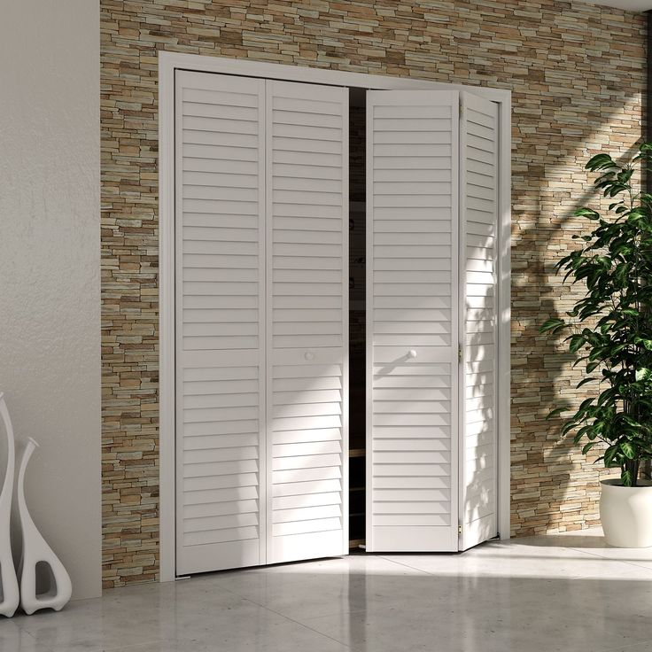 Bi fold door louver louver plantation 1x30x80 white amazon 109 di bed bath pinterest - Plantation louvered closet doors ...