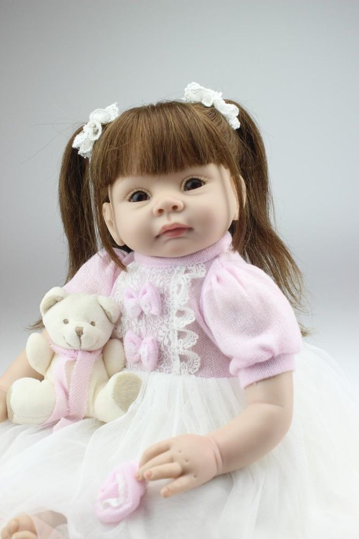 (79.11$)  Buy here - http://aiyjx.worlditems.win/all/product.php?id=32371004816 - 22 Inches Silicone Reborn babies Dolls Realistic Hobbies Handmade boneca reborn brinquedos for girls
