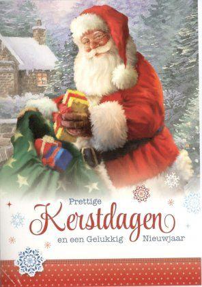 Prettige kerstdagen en een gelukkig Nieuwjaar!    Kerstkaartjes met kerstman