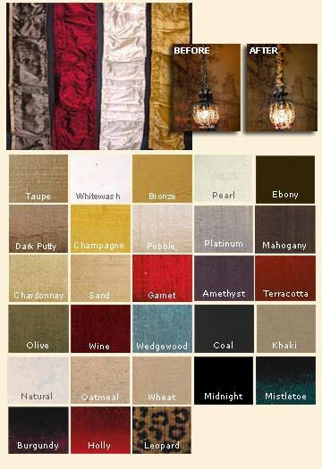 Designer chandelier chain covers add color to your chandelier or fixtures. 5 foot long covers available in many colors. Covers are pre-gathered for a profession