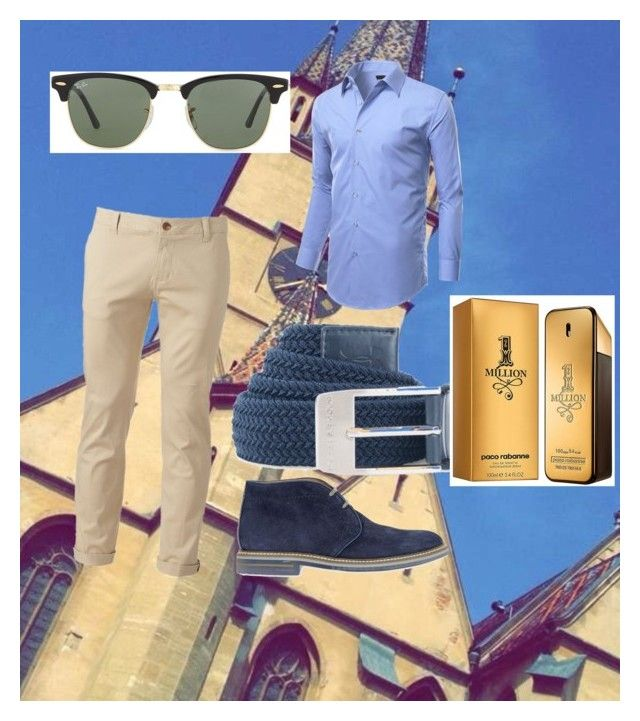 """Untitled #13"" by mihai-cosmin on Polyvore featuring Chor, Ray-Ban, Under Armour, Brimarts, Paco Rabanne, men's fashion and menswear"