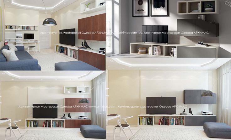 Стиль Хай-тек готовый дизайн-проект ЖК Альтаир Нова Будова Одесса Архимас
