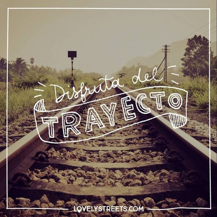 Qué más da el destino. #lovelystreets #travel #quotes #frases #viajes  What does it matter where you are headed?