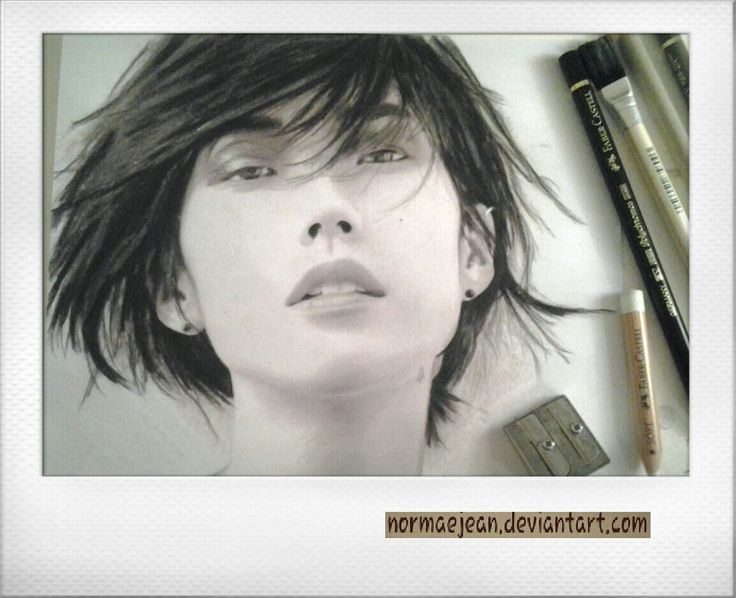 portraitdrawing actress Tao Okamoto as Mariko from Wolverine enjoy more at #normaearts NormaeJean.deviantart.com