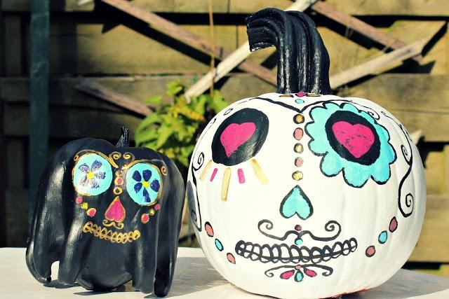 1000+ ideas about Sugar Skull Pumpkin on Pinterest | Skull ...
