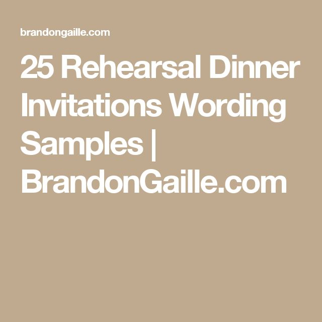 25 Rehearsal Dinner Invitations Wording Samples | BrandonGaille.com