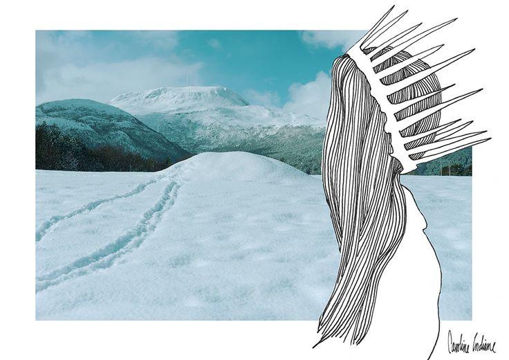 #illustration #photo #fashion #girl #Norway #winter #indianephoto