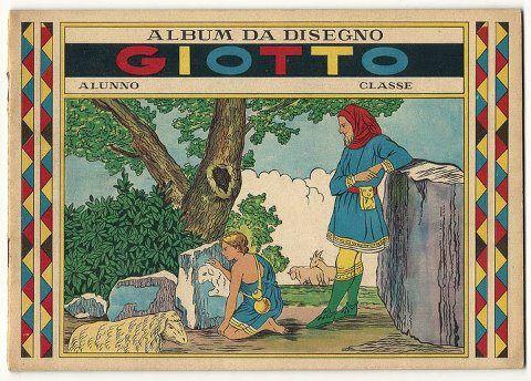 ...disegnavamo sull'album da disegno della Giotto, quello con i fogli che si strappavano e che aveva una copertina vintage. Già allora...