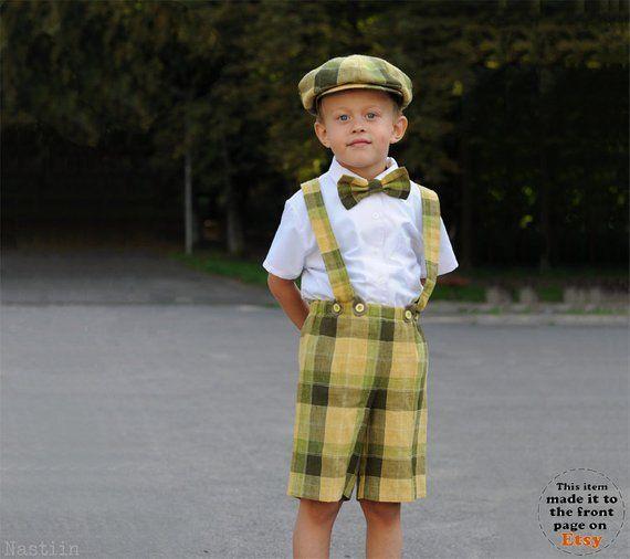 f333b8fac Boys blue clothing set Boy newsboy cap Baby boy shorts with suspenders Boy  bow tie and suspenders set Boy wedding clothes Baby shower gift