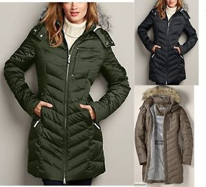 Eddie Bauer Women's Sun Valley Down Parka- I like the fit and look of this parka, my only concern is whether the length is long enough to keep my upper legs warm.
