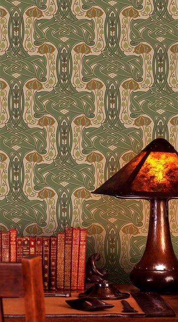 """Celtic Knot"" Arts & Crafts-style wallpaper from Bradbury & Bradbury"