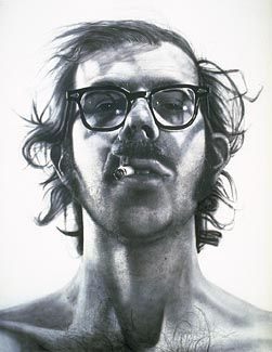 Chuck CloseBig Self Portraits, Favorite Artists, Portrait Paintings, Black And White, Chuck Close, Art Piece, Canvas, Portraits Artists, Realistic Drawings