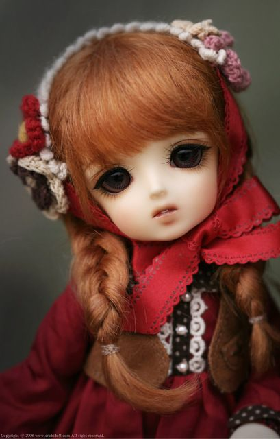 Muñeca SD BJD muñeca bebé pequeño signo de interrogación CROBI 1/6 enviar ojos de pestañas