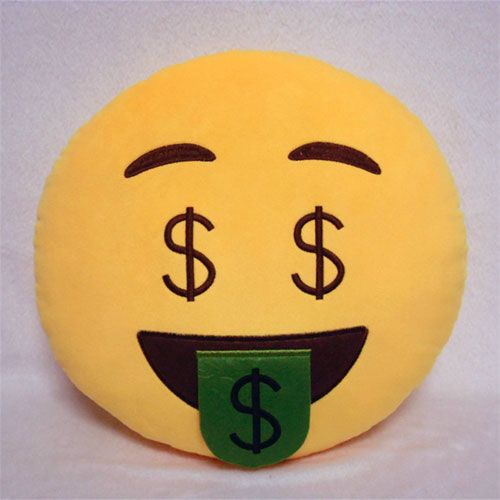 cool Money-Mouth Face Emoji Pillow