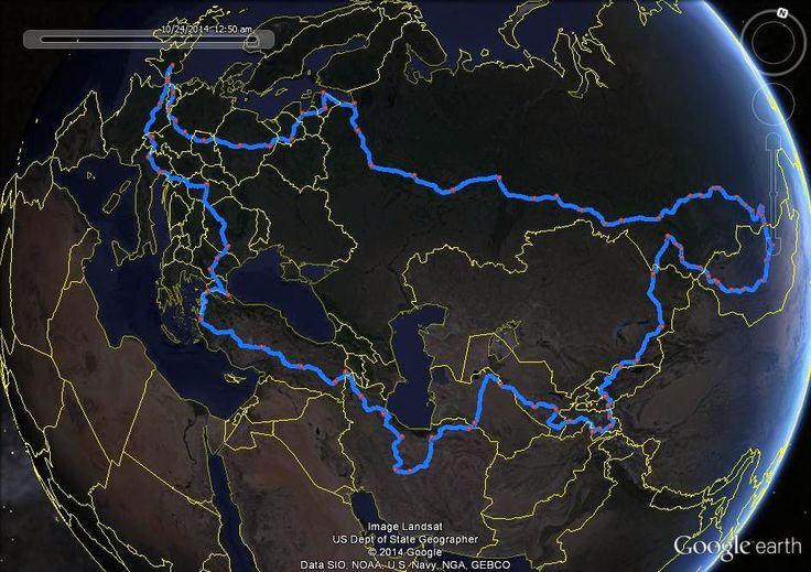 Matt's 60 mph Adventure: The route (Sorted)