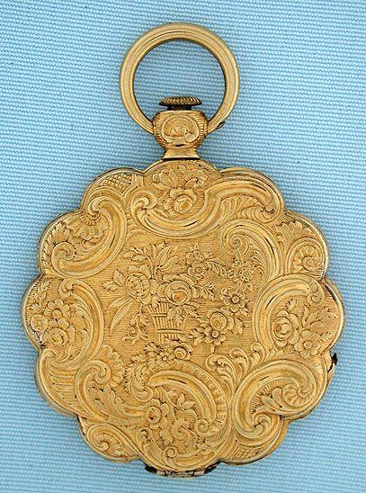 Starožitné kapesní hodinky - Flower formulář Sledujte # 5855