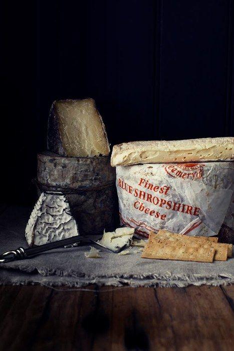 Finest Blue Shropshire Cheese...  Ohh I do miss Shropshire.