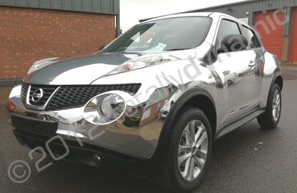 Chrome Car Wrap >> Nissan Juke in a Mirror Chrome Car Wrap | by Totally Dynamic | wrapping | Pinterest | Nissan ...