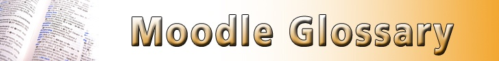 Moodle Glossary - User Guide: http://uxcolmoodle.uxbridge.ac.uk/pluginfile.php/11723/mod_resource/content/2/Moodle%202%20Glossary%20handout.pdf