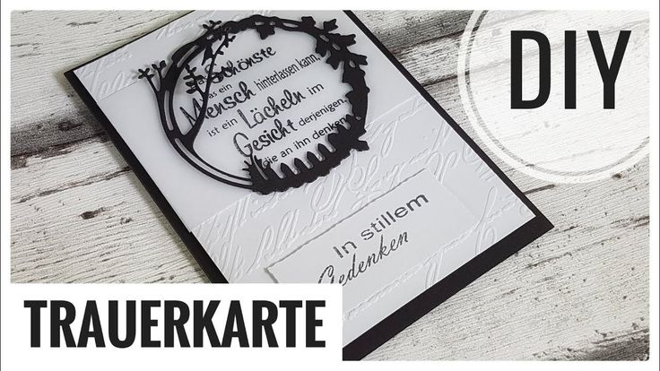 Trauerkarte selber basteln | Kartenbasteln  DIY IDEE [Tutorial | deutsch] Schritt-für-Schritt erklärt. Kein schönes Thema, aber es gehört leider zum Leben dazu. Auch hierfür kann man Karten selber gestalten. #selbermachen #Trauerkarte #diy #selberbasteln #Karten