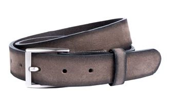 Buckles & Belts - Belt/Gürtel - NOS Collection 2016 - Torean - Nubuk-Leather - antracite - grey - Design in SWITZERLAND made in ITALY https://www.facebook.com/BucklesBelts
