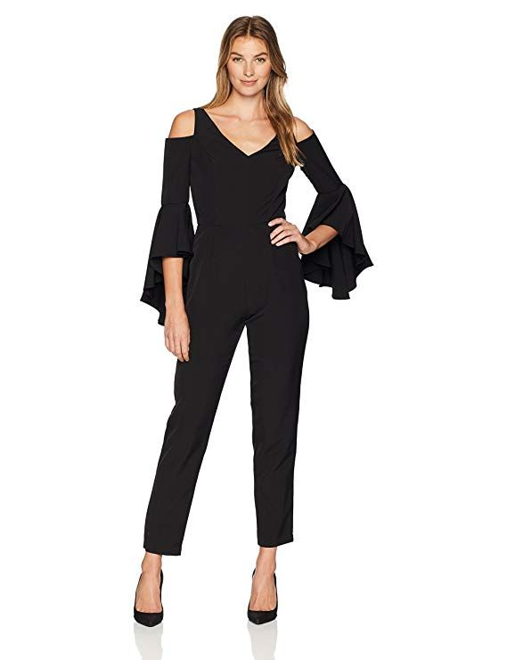a644415b8f40 Maggy London Women s Cold Shoulder Solid Crepe Jumpsuit