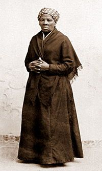 Harriet Tubman.  You gotta admit, she was a bad ass.  She could've just escaped and stay safely in the north.  But no, this chick right here went back and guided others to freedom.  They should make a movie about this woman and not some cheapo BET crap, but a real movie.  Someone make it happen.
