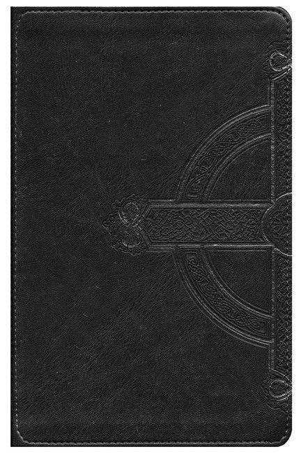 NLT Teen Life Application Study Bible: Black Celtic Cross Leatherlike