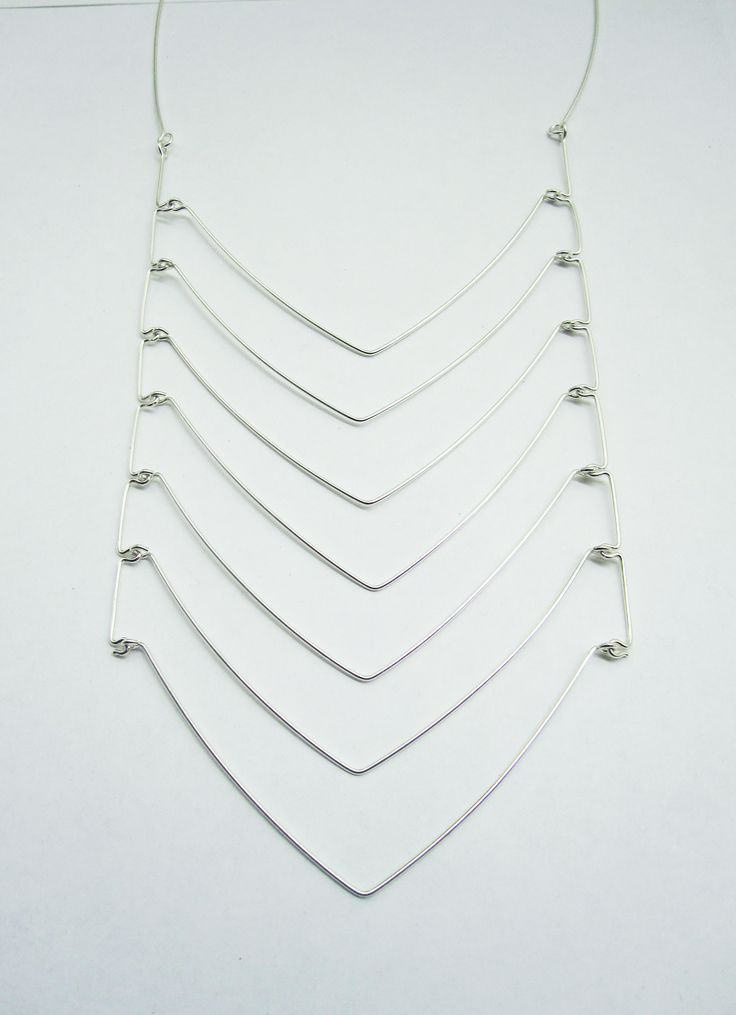 Kari Woo. Chest Plate, From the 'Draw the Line' Collection, Sterling silver, 36 . $385