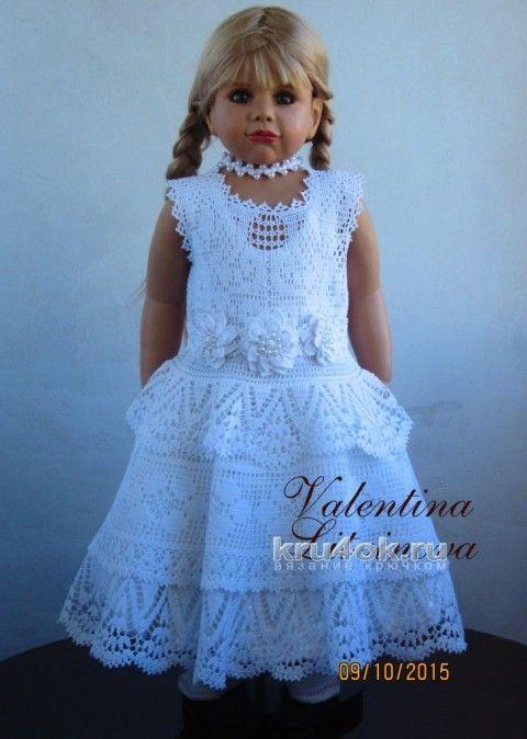Комплект Белая лебёдушка. Работа Валентины Литвиновой вязание и схемы вязания